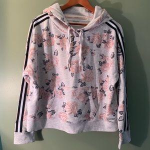 Calvin Klein performance floral hoodie